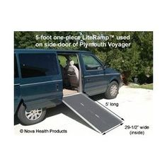 5 Foot Single Fold Literamp Portable Wheelchair Ramp