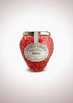 Mermelada de fresa 'La Vieja Fábrica'. (Realmente esto fue una campaña gráfica sobre los envases)