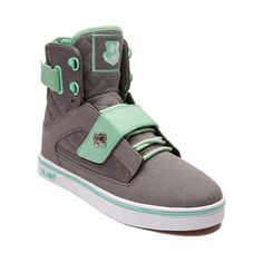 Shop for Womens Vlado Atlas II Skate Shoe in Gray Mint at Journeys Shoes. Shop today for the hottest brands in mens shoes and womens shoes at Journeys.com.Electrify your look with the new Atlas II Skate Shoe from Vlado. The Atlas II Sneaker rocks a high top design with breathable canvas and mesh uppers, quilted collar and side panels, and lace-up closure with front and back hook-and-loop cross straps for a secure fit. The lightly padded tongue and collar deliver optimal ankle support and the…