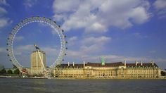 The London Eye and County Hall in the sunshine. Image courtesy of Britain on View