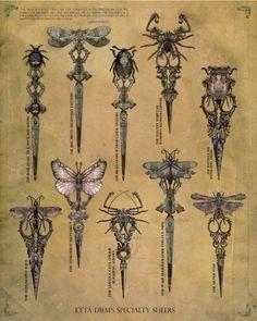 insects art-nouveau-art-grafico (bee on top) Motifs Art Nouveau, Design Art Nouveau, Bijoux Art Nouveau, Scissors Tattoo, Borboleta Tattoo, Jugendstil Design, Dagger Tattoo, Insect Art, Schmuck Design
