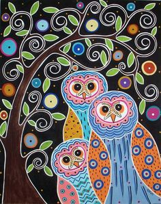 Owls & Trees - Karla Gerard
