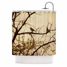 "Sylvia Coomes ""Golden"" Brown Photography Shower Curtain"