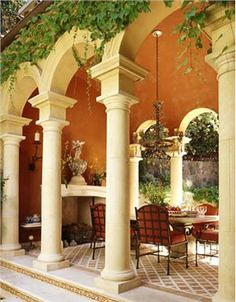 Loggia dining by Suzanne Tucker - Marin County