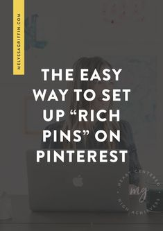 Want to learn how to grow your blog traffic with Pinterest? To help, I'd like to give you an easy pinterest marketing idea for you creative business. This post is all about how to get rich pins so you can use pinterest for business the right way! #pinterestmarketing #pinterestmarketingtips #socialmediatips #socialmediamarketing #melyssagriffin, #onlineentrepreneur, #creativebusiness Creative Business, Business Tips, Rich Pins, Pinterest For Business, Online Entrepreneur, Small Business Marketing, How To Get Rich, Pinterest Marketing, Online Marketing