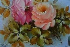 Pintura de uma rosa no tecido passo a passo. | ARTISTAS DOS ...