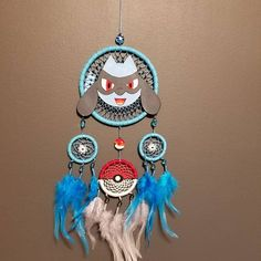 Lilo and Stitch Fan Gift - Blue Dream Catcher Wall Hanging - Birthday Gift Baby Nursery Children Room Decor The Dream Catcher, Dream Catcher Nursery, Little Stitch, Lilo And Stitch, Jack Skellington, Roi Lion Simba, King Simba, The Lion King Characters, Cardboard Box