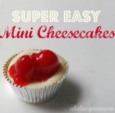 Super Easy Mini Cherry Cheesecake Bites