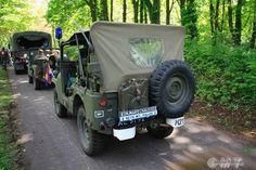 Militair Weekend Hembrug, Zaandam. Zaterdag 9 mei 2015. M38A1 Nekaf Jeep KMar (Koninklijke Marechaussee = Royal Dutch Military Police)