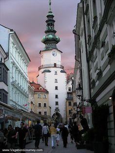 I miss walking down this street ..... Bratislava, Slovakia