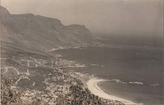 WW2 view of Camps Bay by lieutenant L.F Daniels R.N.V.R - before joining the navy he was London Feature Editor of Pacific Post.
