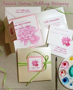 Handmade Wedding Invitations | Wedding Invitations - Custom Invitations, Unique Wedding Invitations ...