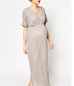 Incredibly flattering full sequin dress for all shapes and sizes, including maternity! Perfect for bridesmaids, wedding guests and all formal