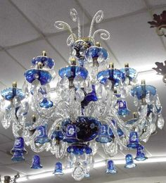 This chandelier is pretty. I like the blue color.  The Incensewoman