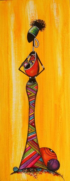 No artist found, African Black Art Painting, Fabric Painting, Arte Tribal, Tribal Art, Afrique Art, African Art Paintings, African Theme, Arte Country, Art Premier