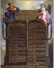 """Declaration of Rights of Man: a fundamental document of French constitutional history adopted by the Constituent Assembly on Aug. 26, 1789.The rights to """"liberty, property, security, and resistance to oppression"""" and the rights to freedom of speech and of the press were guaranteed. It asserted the equality of men and the sovereignty of the people, on whom the law should rest, to whom officials should be responsible, and by whom finances should be controlled."""