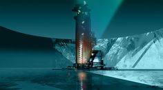 """- by Neil C. Ross --- done for the animated TV series """"Tron Uprising"""" Tron Uprising, Animation Background, Environment Concept Art, Visual Development, Environmental Art, Art Direction, Scenery, Fine Art, Landscape"""
