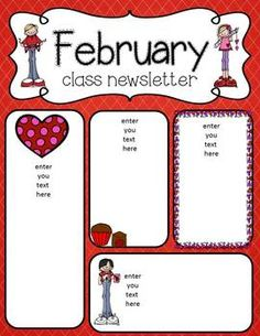 february newsletter template akba katadhin co
