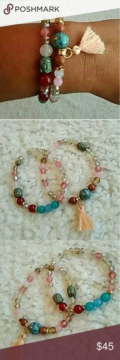 Beaded & Tassel Bracelet Set Beaded & Tassel Bracelet Set Boutique Jewelry Bracelets