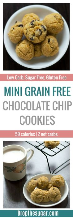 Looking for easy keto chocolate chip cookie recipes? Here's a list of keto cookie recipes to help get you started! Sugar Free Desserts, Sugar Free Recipes, Healthy Dessert Recipes, Low Carb Sweets, Low Carb Desserts, Low Carb Recipes, Ketogenic Recipes, Gluten Free Chocolate Chip Cookie Recipe, Sugar Free Diet