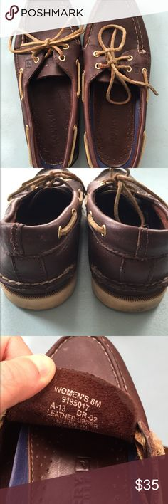 Sperry Top Sider shoes sz 8M Dark chocolate color; pre-loved but in very good condition; the soles come out and can either be replaced with orthopedic insoles or put back in and glued; please ask any questions. Bundle and save! 😉 Sperry Top-Sider Shoes Flats & Loafers