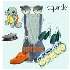 Squirtle (Pokemon) Inspired Outfit