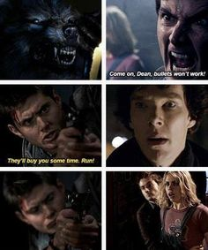 Dean, quit trying to throw yourself in danger's way. Sherlock, Rose and the Doctor clearly don't approve.
