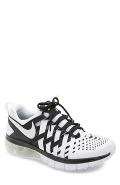 Free shipping and returns on Nike 'Fingertrap Max' Training Shoe (Men) at Nordstrom.com. A woven upper resembling a Chinese finger trap reminds you to train smarter, not harder on a supremely comfortable sneaker cushioned with a Max Air® heel and fitted with a modular sole for multi-directional agility.