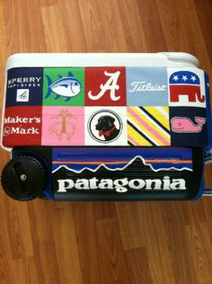 Twitter's @CharmoftheSouth's new cooler! Lucky guy has a crafty sorority girl to help him out. #TSM #TFM