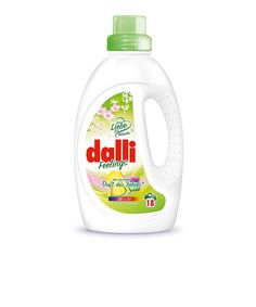 Dalli Fellings Colorwaschmittel 2017. Available in 1.35 l bottle for approx. 18 loads of laundry. Dalli Feelings Colorwaschmittel (English: detergent for colors) combines excellent color retention and a luxurious, uplifting scent. Impressive performance and care Protects colored fabrics from fading Active wash cycle starting at 20 °C, which saves energy and helps to protect the environment https://mydalli.de/en/products/dalli-feelings.htm