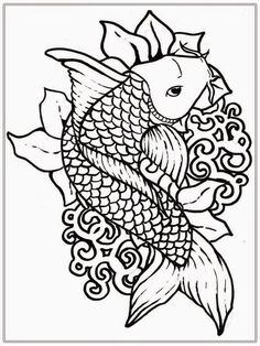 Fish Cartoon Coloring Pages Realistic Coloring Pages