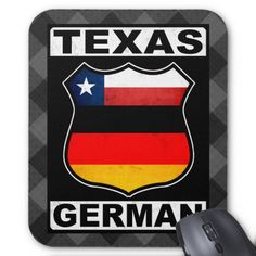 #Texas German American Mousemat, available to purchase at #Zazzle.com #germanamerican #germany #deutschland