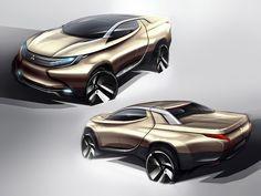 Mitsubishi Concept GR-HEV Design Sketches