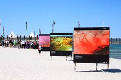 Die Erlebniswelt Fotografie Zingst – eine willkommene Weiterbildung | Fotowände am Strand von Zingst – Fotofestival Horizonte 2015 (c) Frank Koebsch (2)