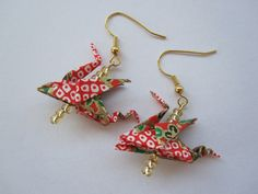 Dragon Origami Earrings http://www.arsorigami.com/