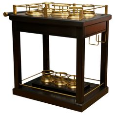 Vintage Bar Cart -add brass to the wood one