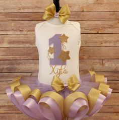 Twinkle Twinkle Little Star Birthday Tutu by TinyTotsEmbroidery