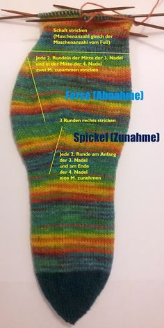 Quicky Socke stricken, Toe- Up Socken stricken by Stefanie Bettmann, all rights . Quicky Socke stricken, Toe- Up Socken stricken by Stefanie Bettmann, all rights reserved English di Fingerless Mittens, Knitted Poncho, Drops Design, Simple Jewelry, Diy Jewelry Making, Knitting Socks, Knit Socks, Handicraft, Diy And Crafts