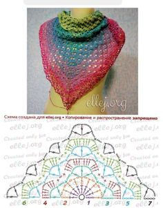 Moje Hand Made: Chusta i Creation Point de Croix nr post was discovered by esti brustein discover and save your own posts on unirazi salvabrani – ArtofitDiscover thousands of images about Crochet shawl pattern diagramRavelry: Calypso pattern Poncho Crochet, Crochet Shawl Diagram, Poncho Knitting Patterns, Crochet Shawls And Wraps, Shawl Patterns, Crochet Chart, Crochet Scarves, Crochet Clothes, Crochet Lace