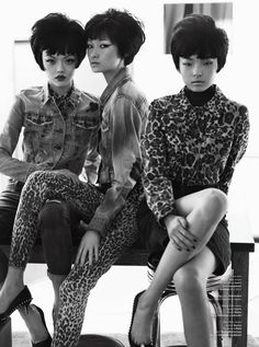 Wang Xiao, Xiao Wen & Rila Fukushima in V Magazine #72, Fall Preview 2011