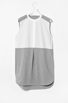 Cos Jersey + Woven Tunic
