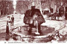 Aix-En-Provence - Cours Mirabeau - Fontaine d'eau