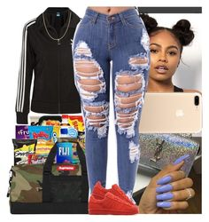 Untitled #799 by msixo ❤ liked on Polyvore featuring adidas Originals and Fremada