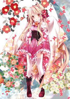 Anime Kawaii Girl /^ω^\ - Anime Kimono 2 - Wattpad Anime Neko, Anime Wolf, Anime Girls, Anime Child, Loli Kawaii, Kawaii Anime Girl, Pretty Anime Girl, Beautiful Anime Girl, Manga Pokémon