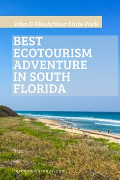 North Palm Beach's MacArthur State Park offers kayaking, gorgeous beaches, wildlife and tons of fun in the sun. | Florida Park | East Coast Florida Beach | Palm Beach County Park | #ecotourism #Florida #USA #adventure