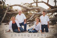 Family Photography Beach Session At Driftwood Beach Jekyll Island |