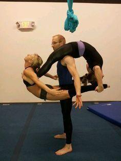 Acro Balance Partner Yoga, Balance, Strong Yoga