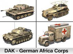 Deutsches Afrika Korps DAK  Collection