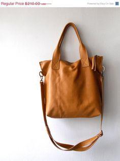5a5c35164d429f Tan brown leather tote - Handbag - Cross-body bag - Every day bag - Women  bag - Laptop bag - Shoulder leather bag