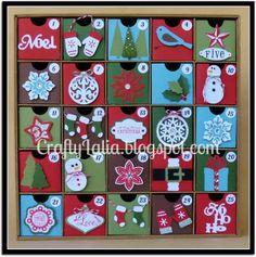Advent Calendar with CTMH Artiste and Art Philosophy Cricut by CraftyLalia #CTMH